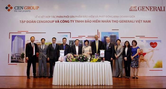 Cengroup và Generali thiết lập quan hệ hợp tác phân phối bảo hiểm